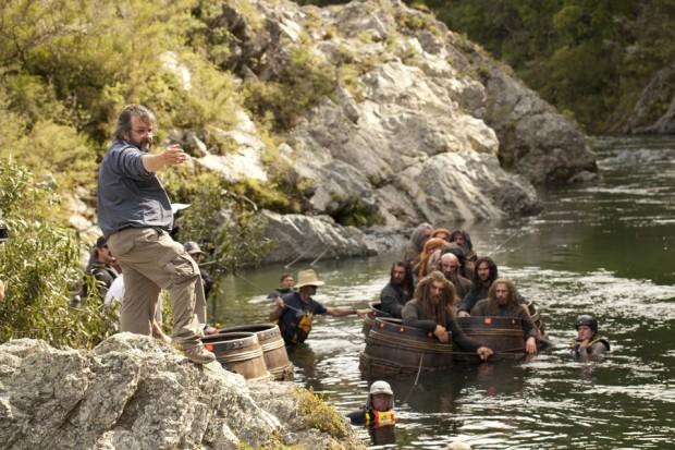 Peter Jackson on set of The Hobbit: The Desolation of Smaug