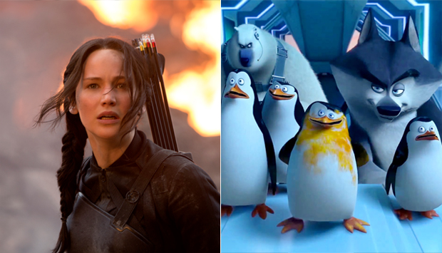 The Hunger Games: Mockingjay - Part 1 / Penguins of Madagascar