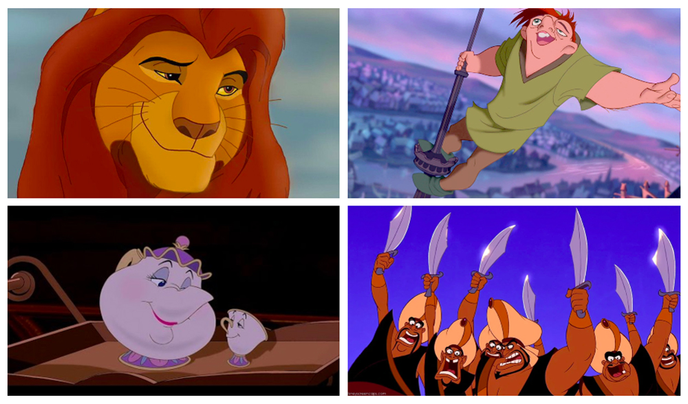 The Lion King / The Hunchback of Notre Dame / Beauty and the Beast / Aladdin