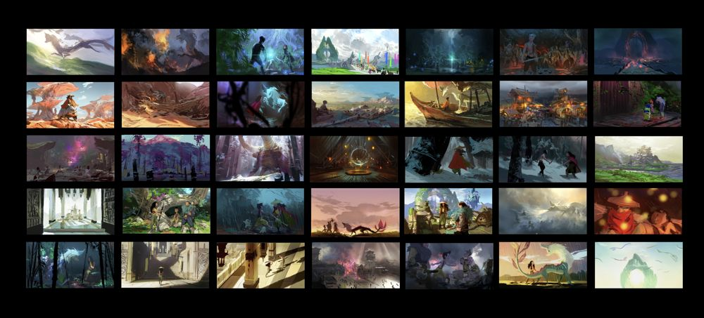 """""""Time of Day"""" color script, Raya and the Last Dragon (courtesy Walt Disney Animation Studios)"""