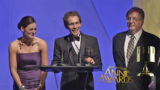 Timothy Reckart at the Annie Awards