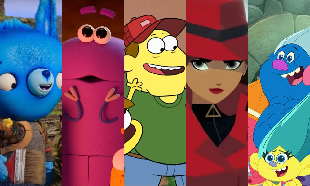 Tumble Leaf, Ask the Storybots, Big City Greens, Carmen Sandiego, and Trolls: The Beat Goes On!