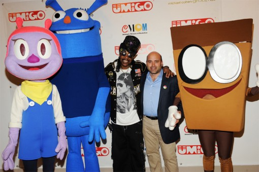 Bootsy Collins and Michael Polis at the UMIGO outreach kick-off event at CMOM