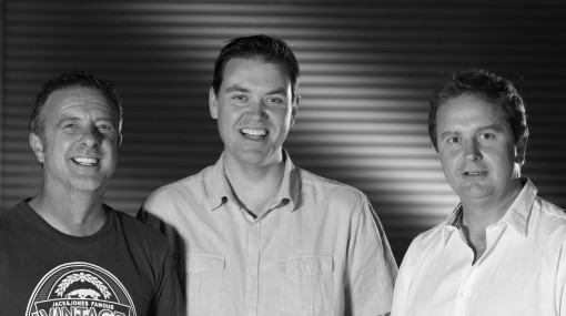 Vince James, Phil Chalk and Tim Harper of Factory Transmedia