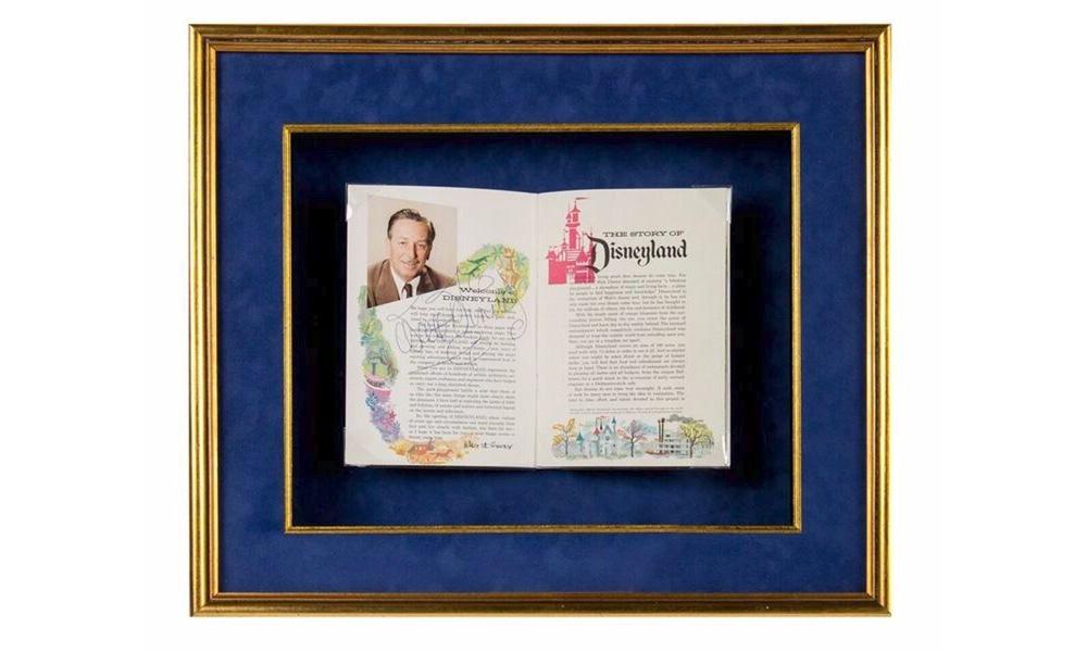 Walt Disney Signed Disneyland Opening Day Guidebook