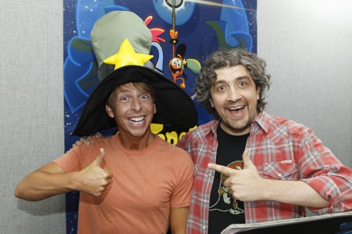 (from left) Jack McBrayer and Craig McCracken