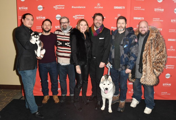 Eddie Spears (actor), Alexandre Espigares (director), Patrick Hubley (Utah Film Center), Christel Henon (Bidibul Productions), Guy Daleiden (CEO Film Fund Luxembourg) Nick Offerman (actor), Stephen Kramer, Glickman (actor). Photo copyright FILM FUND Luxembourg.