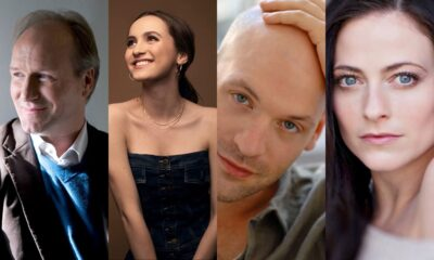 William Hurt, Maude Apatow [Ph: Luke Fontana], Corey Stoll [Ph: Deborah Lopez], Lara Pulver.