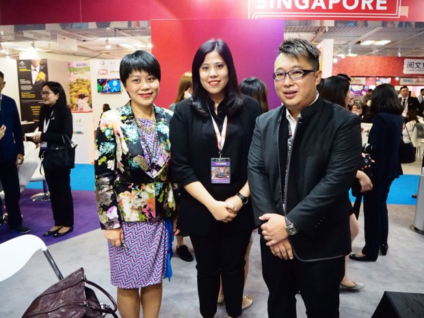 L-R: Shelan He (VP Oriental Pearl Group, President Shanghai Media Group), Pinyada Ratanasungk (COO Shellhut and Tiny Island Pictures) and David Kwok (Co-CEO Shellhut and Tiny Island Pictures)