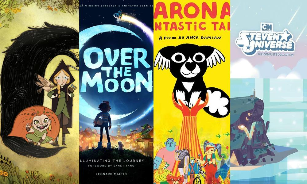 The Art of Wolfwalkers, Over the Moon, Marona's Fantastic Tale, Steven Universe: The Complete Collection