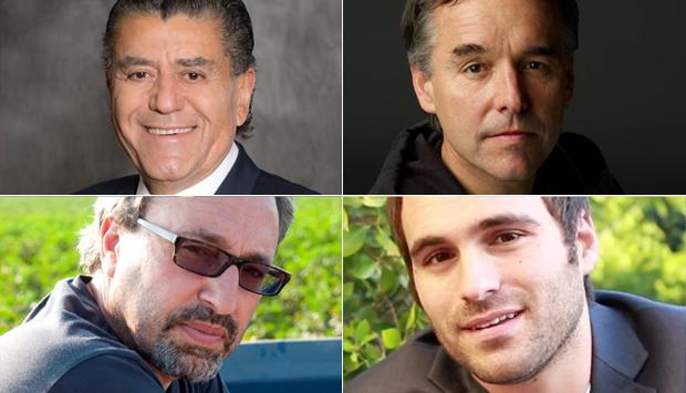 (top left) Haim Saban, (top right) Chris Columbus, (bottom left) Michael Barnathan, (bottom right) Jeremy Zag