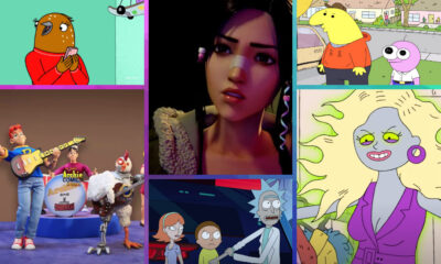 Adult Swim Festival 2021 will present panels and watch parties for fan-favorite and new series including (clockwise from top left) Tuca & Bertie, Blade Runner: Black Lotus, Smiling Friends, Teenage Euthanasia, Rick and Morty and Robot Chicken.