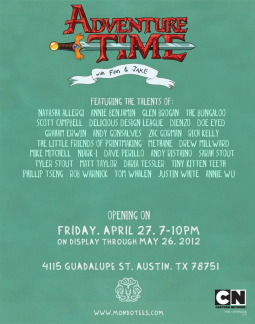 Mondo presents... Adventure Time - An Exhibition of the Algebraic