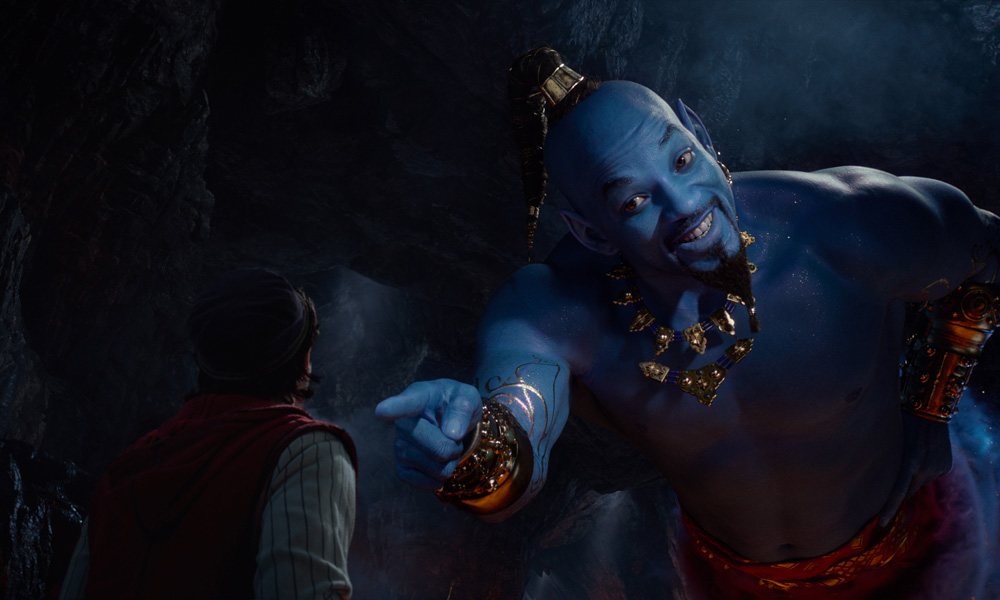 trailer disney lets will smith s genie out of the lamp in
