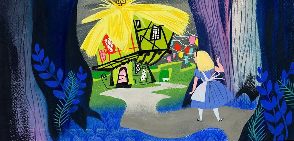 Vizdev for Alice in Wonderland (1951) by Hall of Fame Inductee Mary Blair