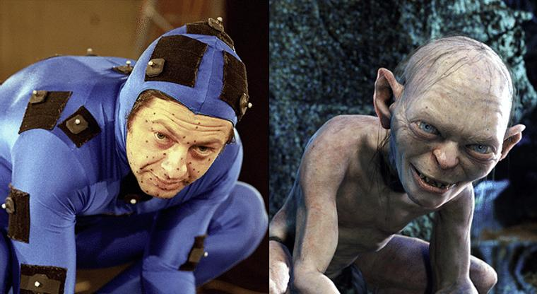 Andy Serkis in mo-cap suit as Gollum in The Lord of the Rings: The Two Towers (2002)