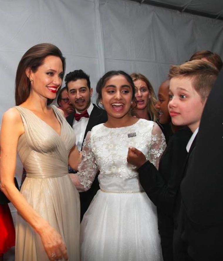 Anjelina Jolie and Saara Chaudry