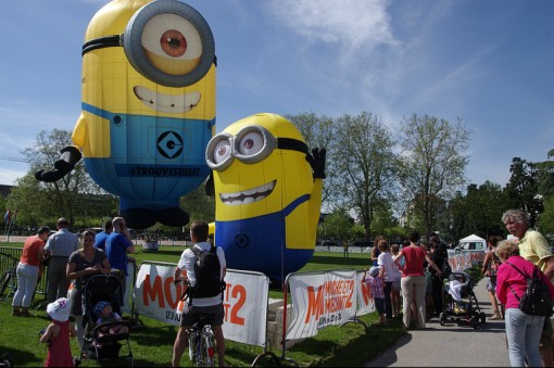 The Despicable Me 2 Minions were a huge hit at the Festival this year.