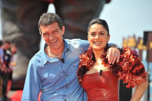 Antonio Banderas (left) with Salma Hayek
