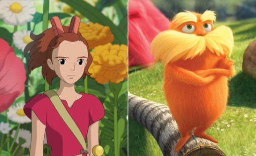 The Secret World of Arrietty (left) and Dr. Seuss' The Lorax