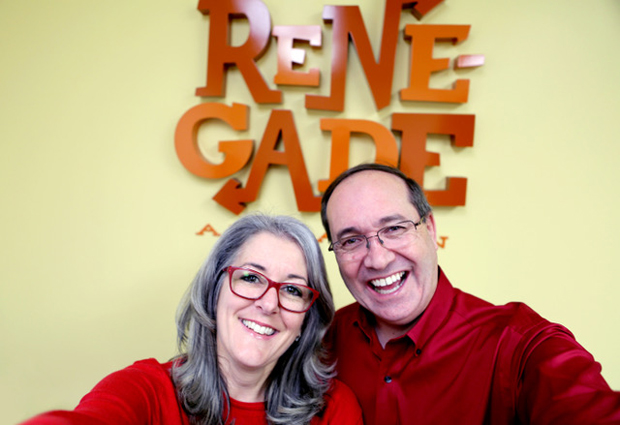 Renegade studio founders Ashley Postlewaite and Darrell Van Citters. Photo Credit: Ryan Jorgensen