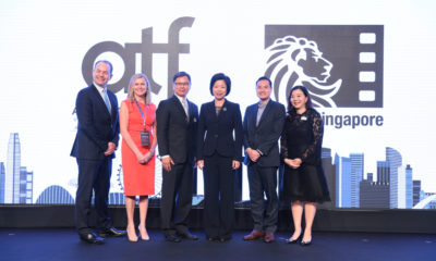 Opening Ceremony (L-R): Robert Gilby, Chairman, Singapore Media Festival; Debbie Evans, President, South East Asia/Australia, Reed Exhibitions; Paul Beh, President, Asia Pacific, Reed Exhibitions; Sim Ann, Senior Minister of State, Ministry of Communications and Information & Ministry of Culture, Community and Youth; Tan Kiat How, CEO, Infocomm Media Development Authority; Michelle Lim, Managing Director, Singapore, Malaysia and Indonesia, Reed Exhibitions