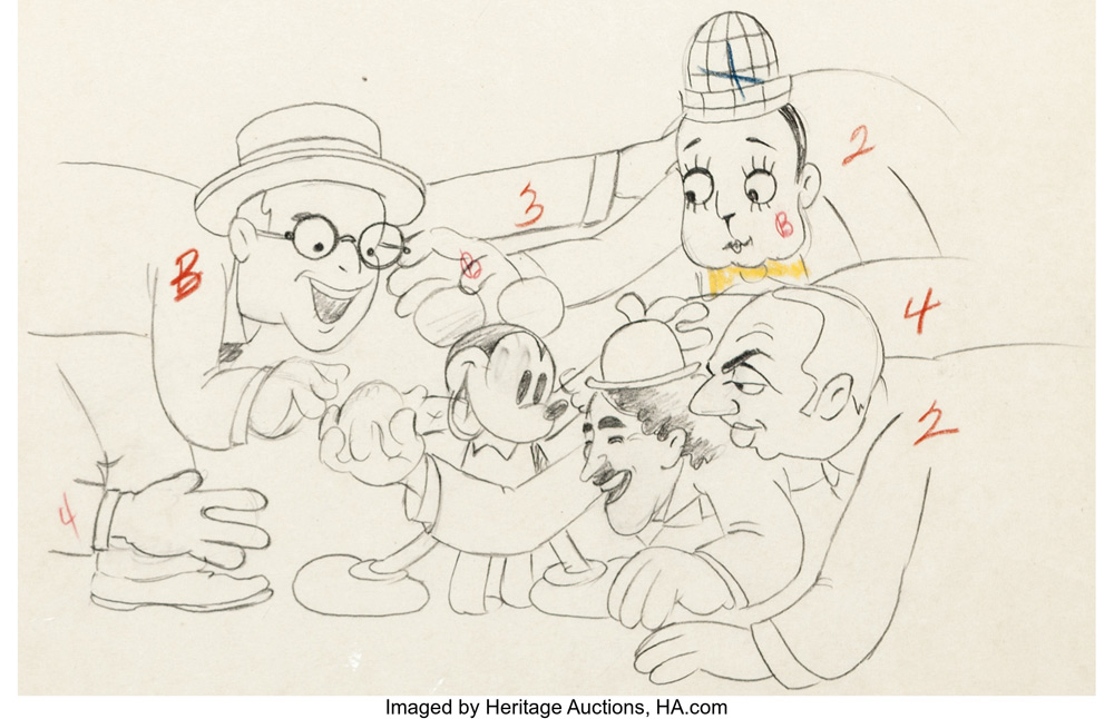 Mickey Mouse and Friends Animation Art Auction