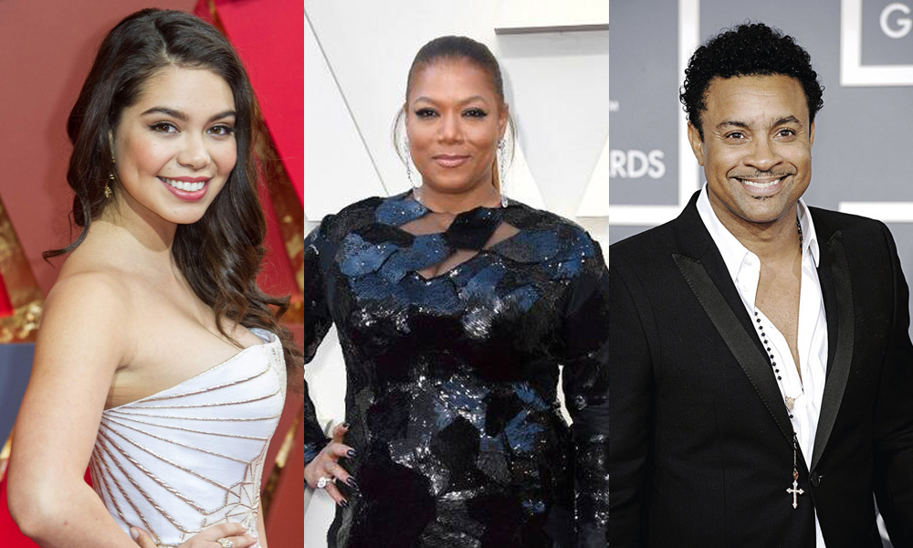 Auli'i Cravalho, Queen Latifah, and Shaggy