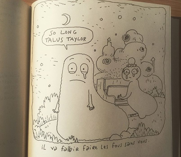 French animator Joann Sfar was one of many artists and fans around the world to mourn the death of Talus Taylor, as seen in this cartoon tribute posted to Instagram