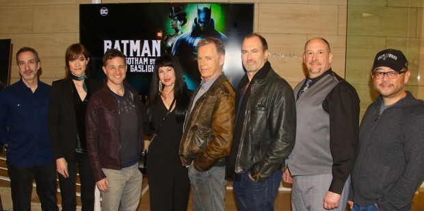 Batman: Gotham by Gaslight cast and crew at the LA premiere Feb. 5.
