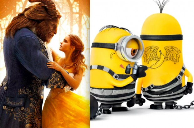 Beauty and the Beast and Minions