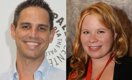 (from left) Greg Berlanti and Julie Plec