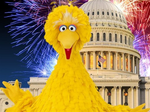 Vote for Big Bird! Join the Million Muppet March!