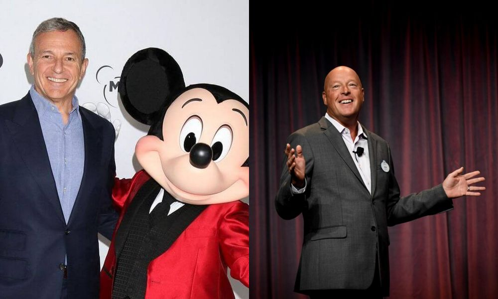 Bob Iger, Mickey Mouse, and Bob Chapek