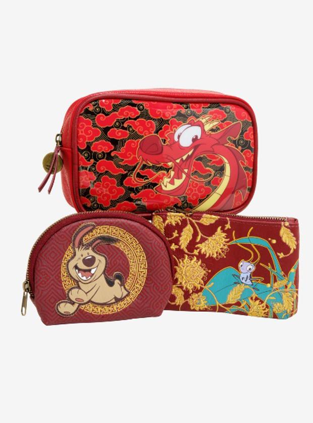 Loungefly Disney Mulan Makeup Bag Set