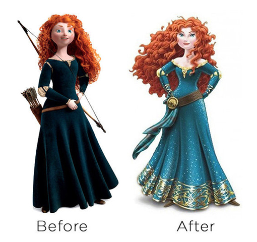Merida from Brave gets a controversial makeover.