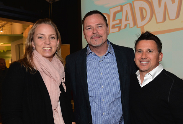 LOS ANGELES, CA - FEBRUARY 04:  Pictured: Jenna Boyd, SVP, Animation Developement,  Russell Hicks, President, Content Development and Production,  Rich Magallanes, SVP, Nickelodeon Animation, Current Series at the BREADWINNERS Screening on February 4, 2014 in Los Angeles, California.  (Photo by Alberto E. Rodriguez/Getty Images)