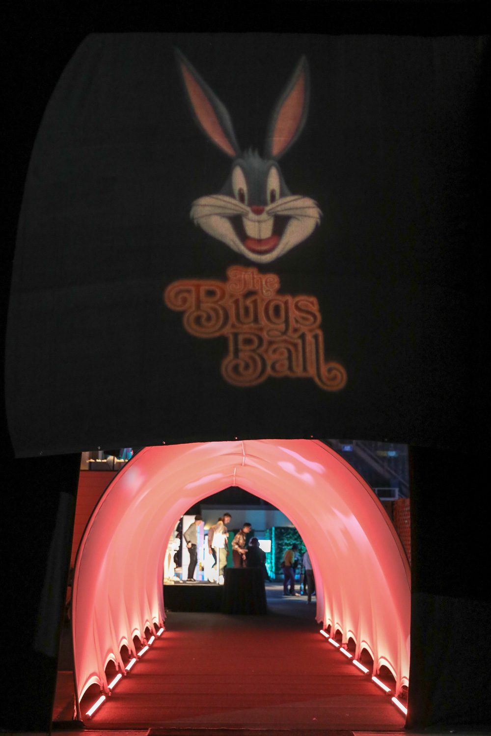 "Main entrance to ""The Bugs Ball"""