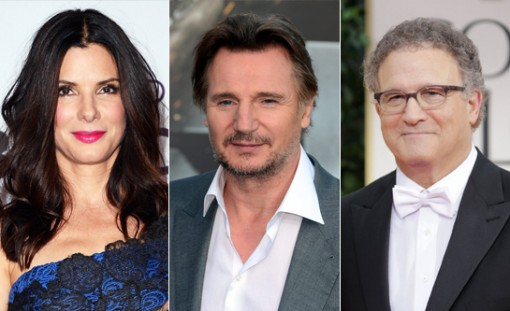 (from left) Sandra Bullock, Liam Neeson & Albert Brooks