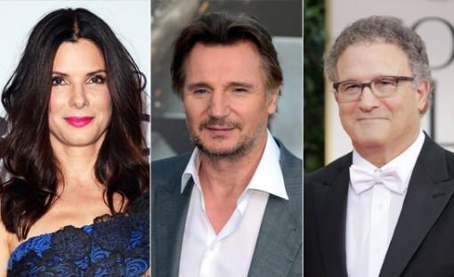 (from left) Sandra Bullock, Liam Neeson & Albert Brooks