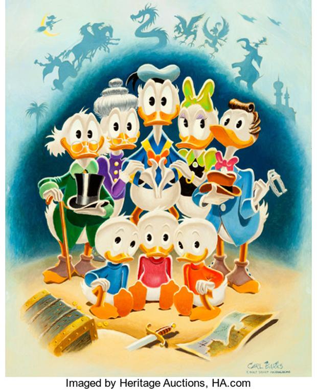 "Carl Barks ""Family Portrait"