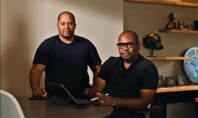 Lion Forge Animation President Carl Reed (L) and Founder David Steward II [Photo: Mikhail Mokrushin/IFC Midnight]