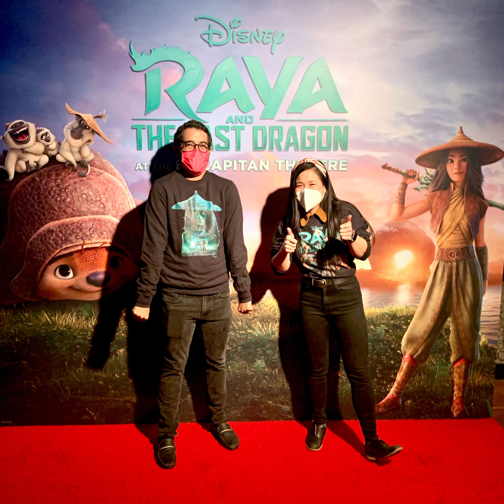 Director Carlos López Estrada and star Kelly Marie Tran greeted fans at the Ray and the Last Dragon L.A. premiere [photo: The El Capitan Theatre]