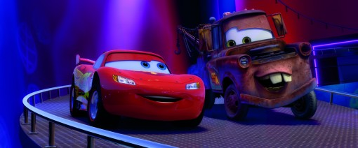 """CARS 2"" (L-R) Lightning McQueen (voice by Owen Wilson), Mater (voice by Larry the Cable Guy) ©Disney/Pixar. All Rights Reserved."