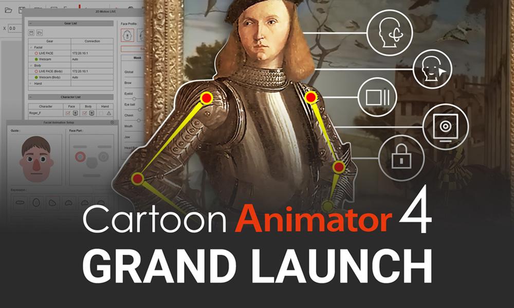 Reallusion Launches Cartoon Animator 4, Facial Mocap Plug-in
