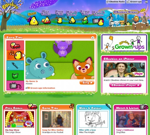 CBeebies website