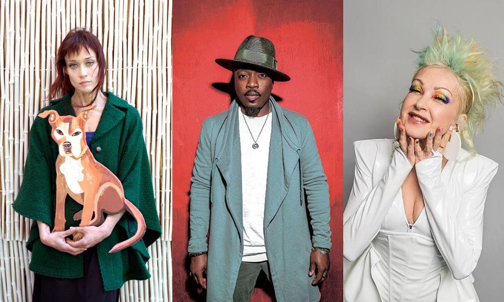 Fiona Apple, Anthony Hamilton, and Cyndi Lauper