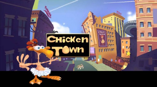 What is the name of the rooster chicken in that cartoon Chicken Town?