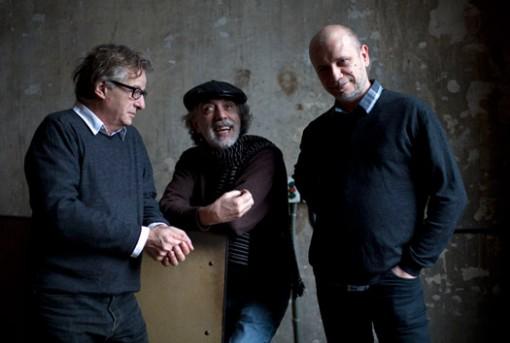 (from left) Javier Mariscal, Fernando Trueba and Tono Errando