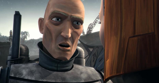 Pre Vizsla (voiced by Jon Favreau) from Clone Wars